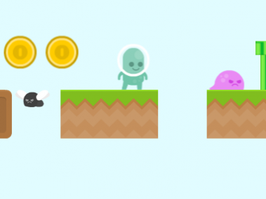 html5 mario style game with coins quintus