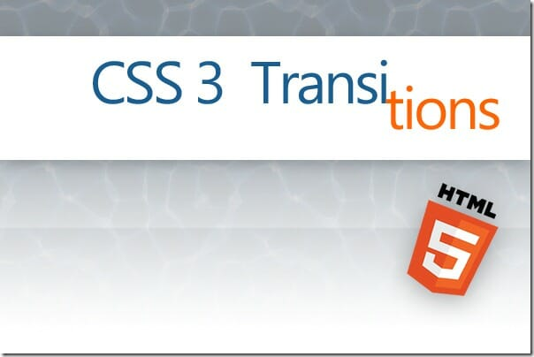 Introduction to CSS3 Transitions