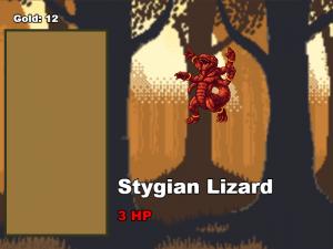 Stygian Lizard enemy with newly added upgrade frame