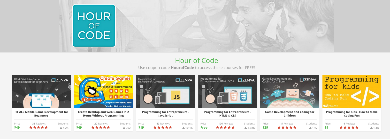 How Zenva is supporting the Hour of Code initiative