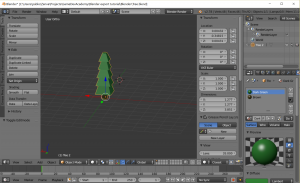 Low poly pine tree in Blender