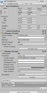 TargetEnemy object in the Unity Inspector