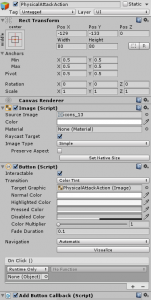 PhysicalAttackAction object in the Unity Inspector