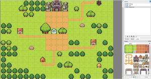RPG Tilemap town with tileset
