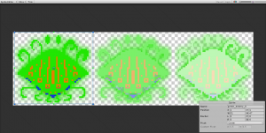 Green enemy being sliced in the Sprite Editor