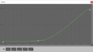 Height curve with a steep climb after 0.4