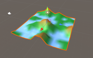 Level Tile object with heightCurve applied