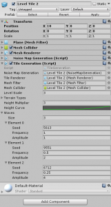 Level Tile 2 object in the Unity Inspector