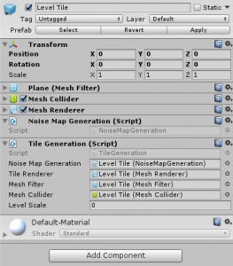 Level Tile in Unity Inspector with Tile Generation script