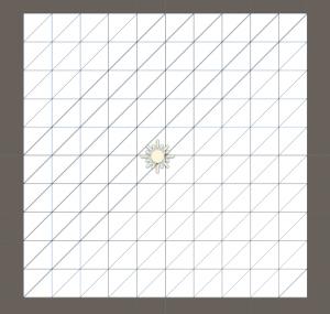 Grid tile in Unity Scene view