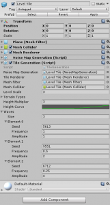 Level Tile object in the Unity Inspector