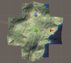 Unity world map in a cross shape