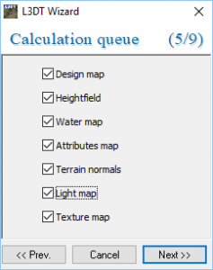L3DT Wizard with Calculation queue settings open