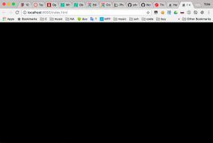Empty black screen for new Phaser based game