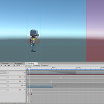 Unity game with Cinemachine timeline and robot player