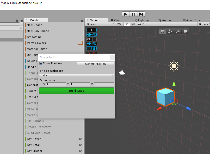 Designing Assets in Unity with ProBuilder – Zenva