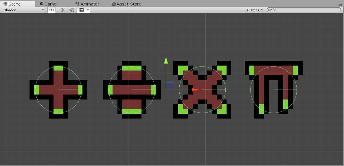Various obstacle sprites for Unity math game