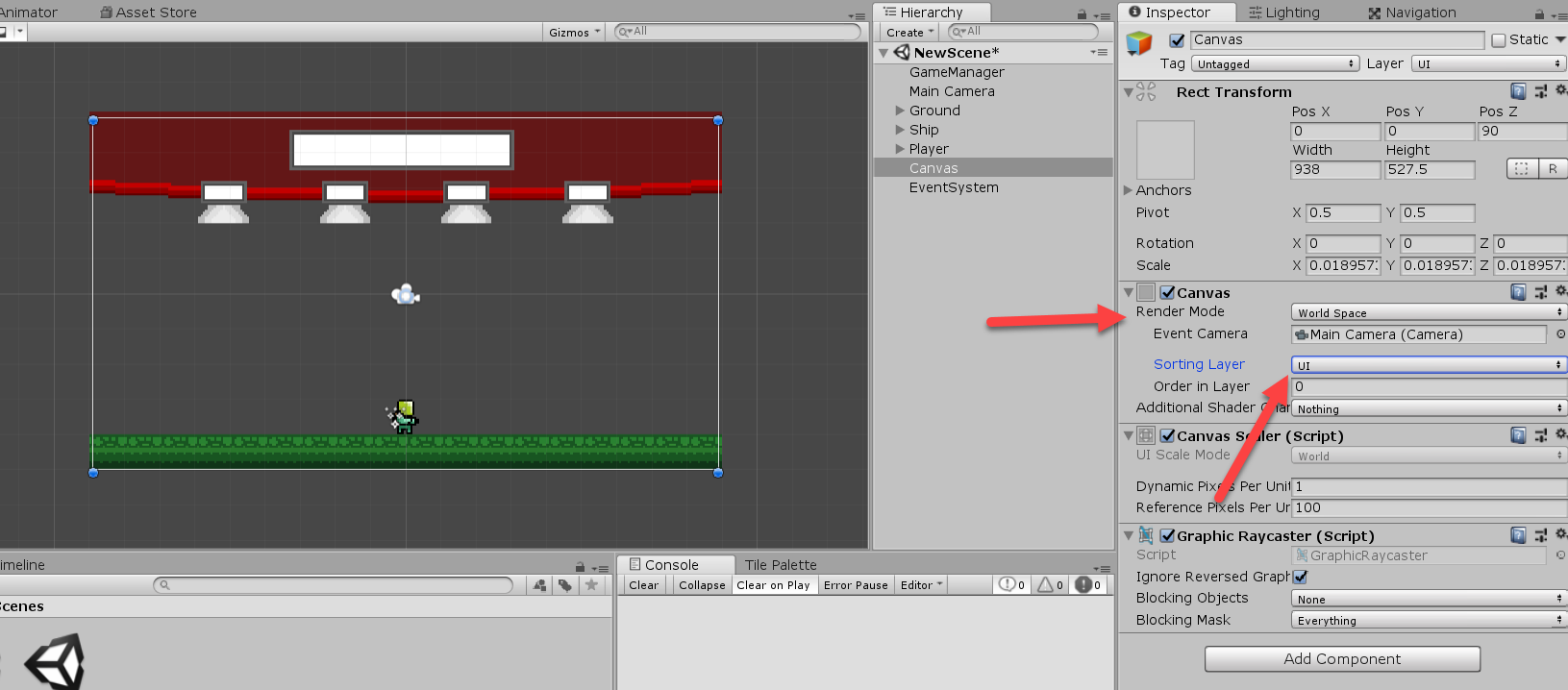 Unity UI Canvas object moved to UI Sorting Layer