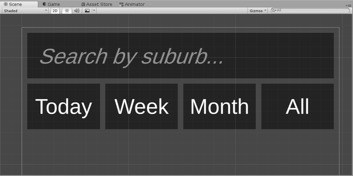 Unity UI with day selection options
