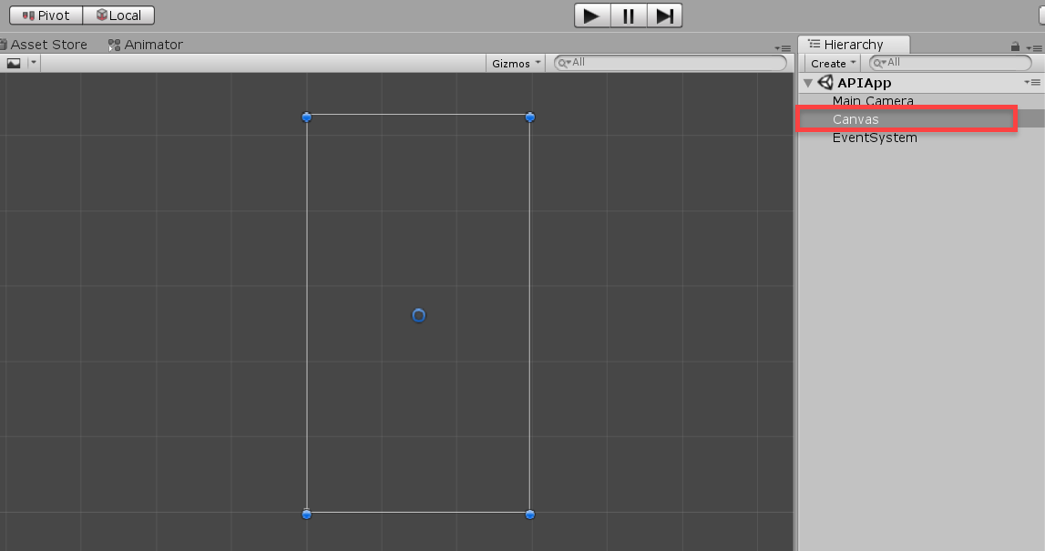 Unity UI Canvas object