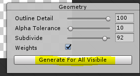 Geometry window in Unity Sprite Editor