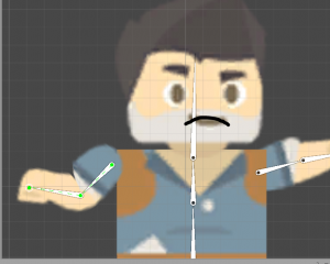 Unity 2D character being animated