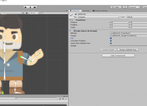 Unity Limb Solver 2D Comonent with Flip option selected