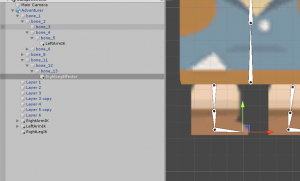 Right Leg IK Bone object in Unity Hierarchy