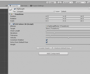 CCD Solver 2D Component in Unity