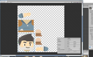 Adventurer character spite in Unity Sprite Editor