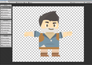 Adventurer character put together in Unity