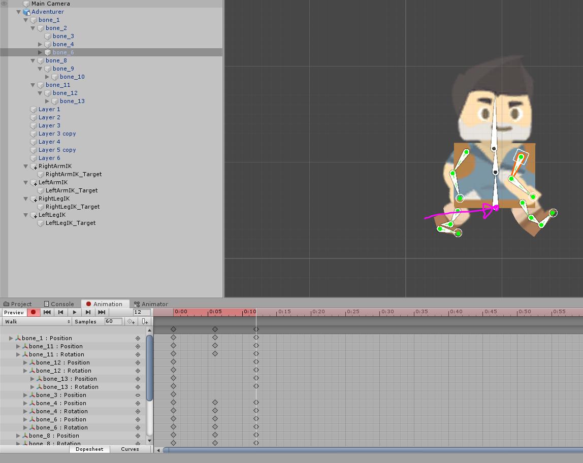 Walk animation pose 3