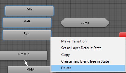 Deleting the Walk, Idle, and Run animations