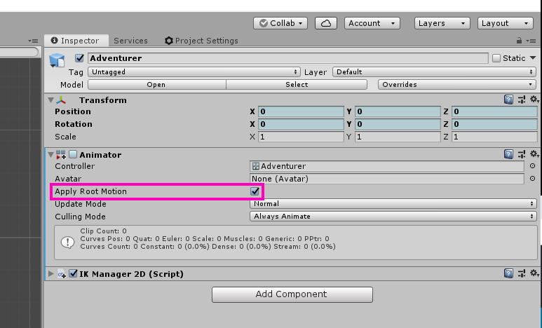 Root Motion on the Unity Animator.
