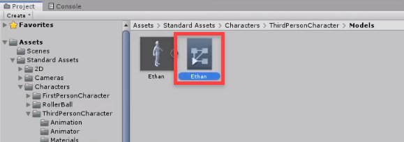 Unity Animation controller for Ethan 3d model