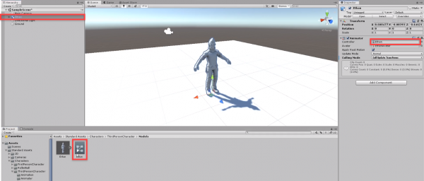 Unity Ethan model being assigned to animation controller