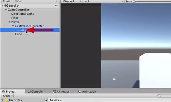 Empty game object added to Unity scene