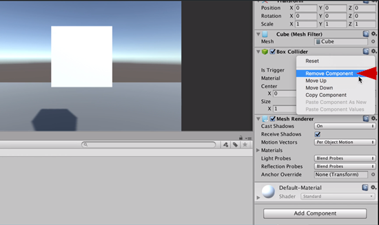 Remove Component option in Unity Inspector