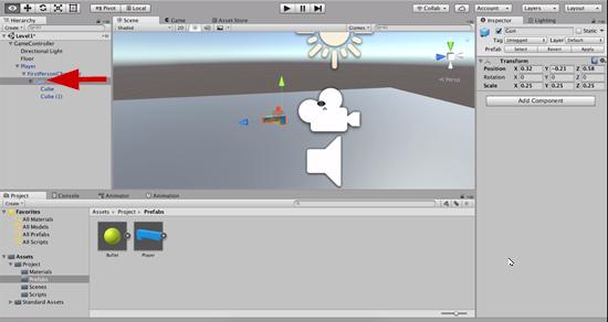 Unity Transform settings for FPS gun