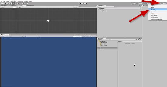 Unity default layout option
