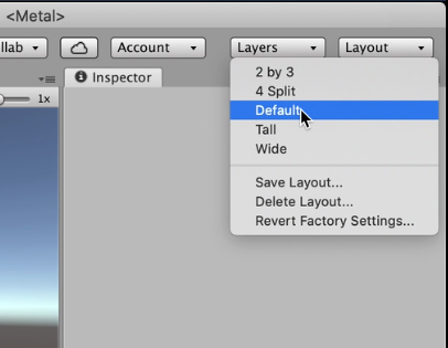 Unity Layout options with Default selected