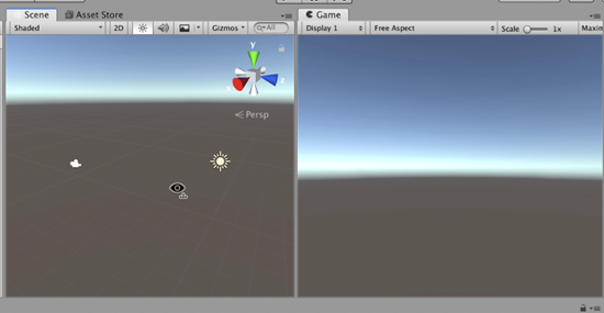 Unity with split scene and game windows