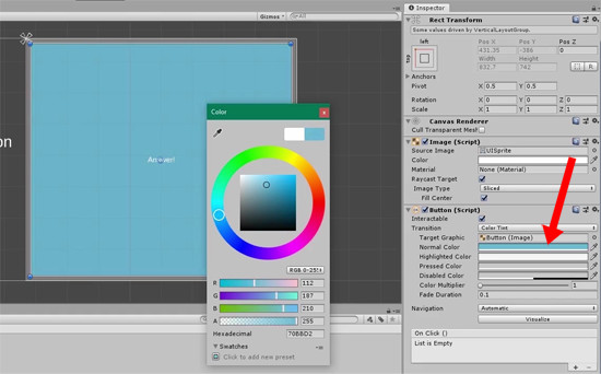 Button color picker in Unity Inspector