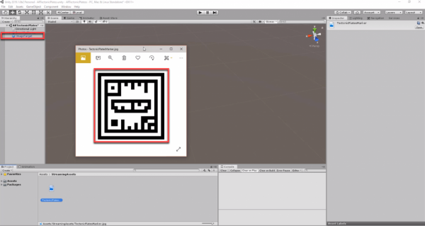 Image Tracking object added to Unity