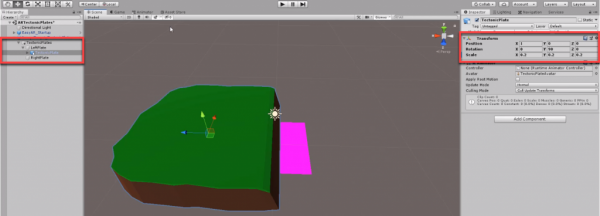 Tectonic plate model added to Unity scene