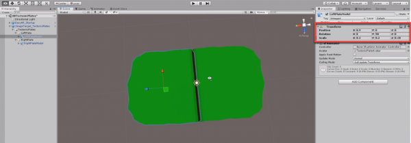 Unity Transform component circled in Inspector