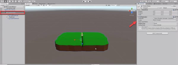 Unity Inspector with Animator component added