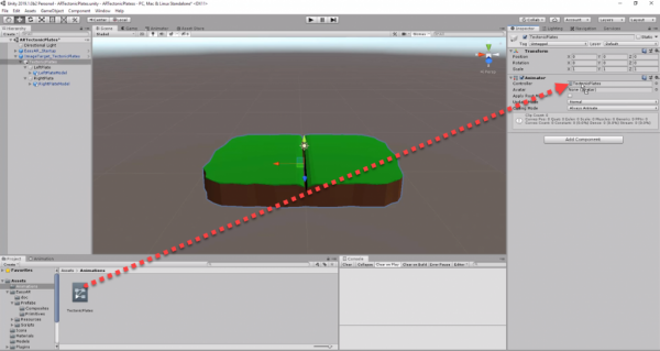 Animation for tectonic plates added to Animator Component