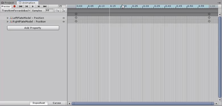 Unity Animation timeline with keyframes added