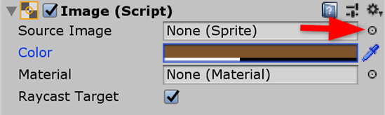 Unity Image component with color changed